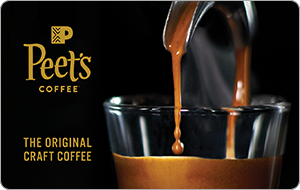 Peet's Coffee & Tea Gift Cards