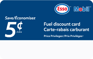 Esso™ and Mobil™ Price Privileges™ Fuel Discount Card  Gift Card